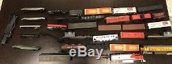 100+ Huge Vintage Toy Train Set Lot, Mixed Gauges, Tracks, And Much More