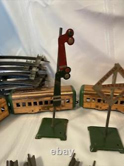 1930s Complete Hafner 7 Copper Train Set with Track & Access. Pre War XX Rare