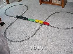 1960's American Flyer double loop train set complete with track and transformer