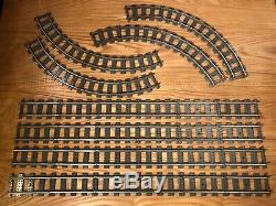 5-ft square LOOP Lego 9v metal rail train track, 24 straight 16 curve, 4515 4520