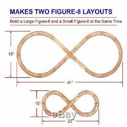 52 Piece Wooden Train Track Builders Lot Set Accessories Compatible Thomas Brio