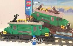 7898 LEGO Cargo Train Deluxe100% Complete-Instructions-NEW STICKERS/ XTRA TRACK