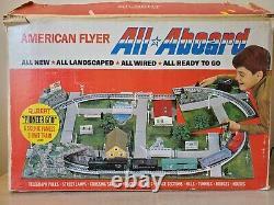 Ac Gilbert American Flyer All Aboard Train Set In Box L72