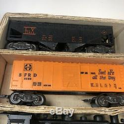 Allstate Marx Sears 60's Train Set 9624, Locomotive Track Cars-Untested As-is