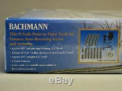 BACHMANN N SCALE POINT TO POINT REVERSING TRACK SET train trolley bump go 44847