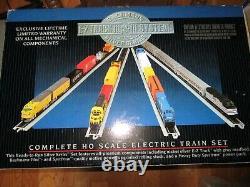 BACHMANN SILVER SERIES Amtrak PATRIOT 01104 HO TRAIN SET E-Z TRACK SYSTEM