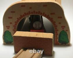 BRIO BRAND Thomas Wooden Railway Henry, Henrys Tunnel Brick Track Train Set Lot