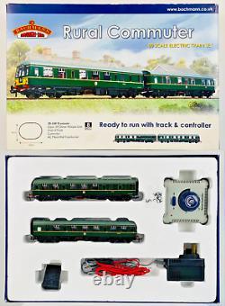 Bachmann 00 Gauge 30-160'rural Commuter' Train Set Class 105 Dmu & Track