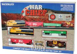 Bachmann 00746 War Chief Electric Train Set with E-Z Track HO Scale