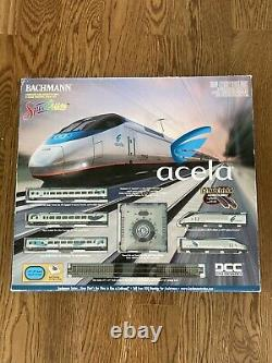 Bachmann N Scale Amtrak Acela Express Train Set E-Z Track System DCC