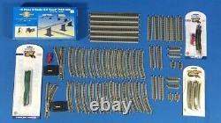 Bachmann N Scale Gauge Train Layout E-z Track Lot Of 57+ Pieces & 44871 Pier Set