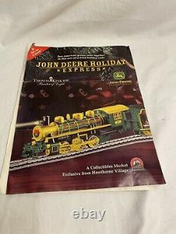 Brand New Hawthorne Village John Deere Steam Locomotive Train Set Track Complete