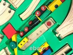 Brio Wood Train Set 33143 Vintage Complete Engine Cars Tracks Trucks Crane