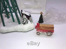 Budweiser Holiday Express Locomotive Train Set & Tracks Hawthorne Village 30+ Pc