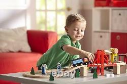 Children Kids Wooden Toy Deluxe Railway Train Track Set Melissa & Doug 10701