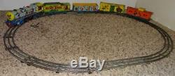 DISNEY 1950's MICKEY MOUSE METEOR TRAIN SET+BELL+TRACK+WORKS+5 CAR VERSION