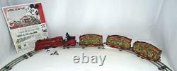 Disney 1935 Lionel Mickey Mouse Circus Train 5 Piece Set+track+high Grade+more