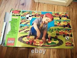 Duplo 1996 Vintage Train Set 2741 Battery Operated Train Track Complete Extras