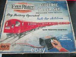 Ever Ready train set Underground model oo gauge