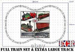 G SCALE 45mm 132 GAUGE NEWRAY XL TRACK TRAIN SET B/O LOCO CATTLE TRACTOR TRUCKS