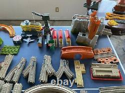 GIGANTIC Lot of Thomas Trackmaster Sets & Trains 8 SETS, 400 Track, 50 Cars ++