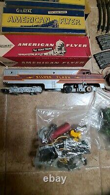 Gilbert American Flyer 3/16 Scale Train Set including 481 Silver Flash