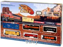 HO SCALE Complete Train Set Bachmann Rail Chief Model Railroad Layout EZ Track
