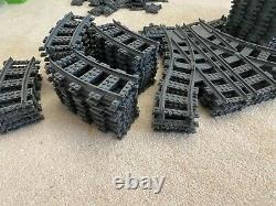 HUGE RC LEGO train track lot 40 straight 35 RC curve 96 segments 8 intersection