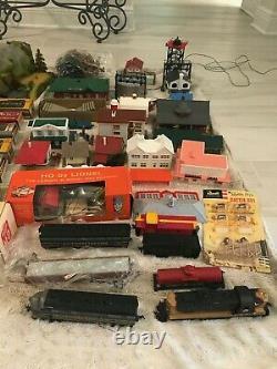 HUGE Vintage 1950/60s Postwar HO Scale Model Train Set Collection Fleischmann