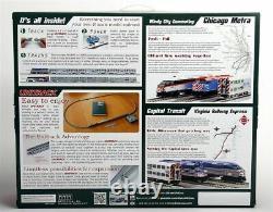 KATO 1060031 N SCALE Chicago Metra MP36PK PASSENGER TRAIN SET TRACK & POWER