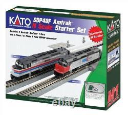 KATO 1060043 N SCALE Amtrak SDP40F PHASE 1 PASSENGER TRAIN SET TRACK & POWER