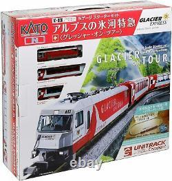 KATO Train Model 10-006 N Gauge Alps Glacier Express Grescher Starter Set NEW