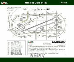 Kato N Scale Manning Oaks Unitrack Track Layout Train Set with Kato Power Pack