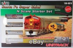 Kato N Scale Santa Fe Super Chief Starter Train Set withTrack & Power #106-0018
