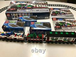 LEGO 10173 Holiday Christmas Train WITH TRACKS 100% complete with box and instr