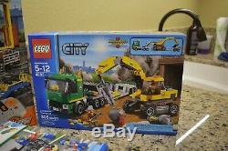 LEGO City Bundle Cargo Train 60052, Truck 60020, Excavator 60075, Track 8867,4203