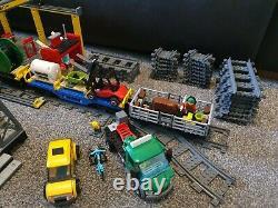 LEGO City Cargo Train (60052), Station (60050) and extra straight track (7499)