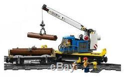 LEGO City Cargo Train 60198 Remote Control Train Building Set with Tracks NIB