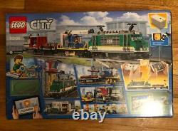 LEGO City Cargo Train Exclusive 60198 Remote Control Train Building Set withtracks