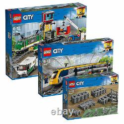 LEGO City Train Combo Pack inc Passenger & Cargo Trains with Extra Track Pieces