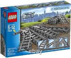 LEGO City Train Station (7937) + 2 Sets Switch Tracks (7895) New in Box