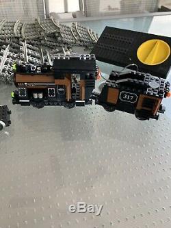 LEGO Large Train Engine Coal Tender #10205 withMotor 9V Black 317 + 57 Track Parts