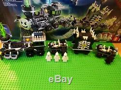 LEGO Monster Fighters The Ghost Train 9467 Modified to run on lego tracks
