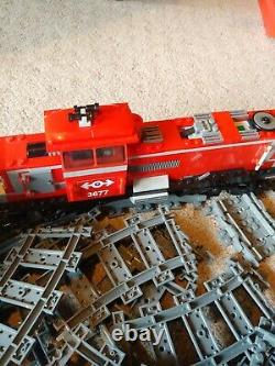 LEGO Red Cargo Train (100% complete all tracks included)
