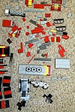 LEGO Train LOT Santa Fe Super Chief 10020 10254 60051 10015 10014 +TONS OF TRACK