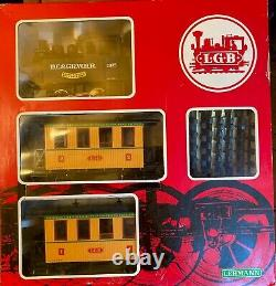 LGB 20701 NEW IN THE BOX, Complete withController & Track, D. C. & GR. W. R. Train Set
