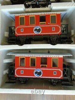 LGB 25301 Lake George & Boulder G Scale Train Start Set VGUC Loco, 2 Cars, Track5
