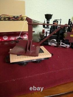 LGB 72429 Big German Train Starter Set Crane Automotive Car Track Transformer