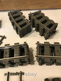 LOT OF 43 Lego 9v 2865 2867 2861 4519 Train tracks Switch 21 Curve 19 Straight