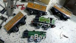 Large Vintage Hornby Meccano Train Set Track Clockwork Engines Carriage Lner 460
